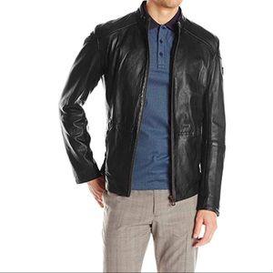 🍂🍁Hugo Boss Orange Jermon Leather biker jacket M